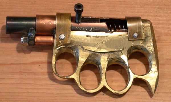 Homemade Knuckleduster Zip Gun, 38spl. pic 1